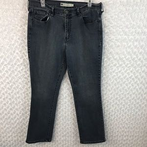 Levi's High Waisted Straight Leg Stretch Jeans EUC